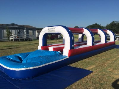 40ft Dual Lane Patriot Slip n Slide