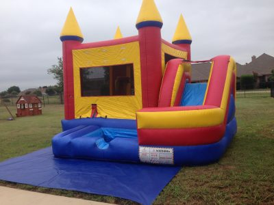 Wrap Around Combo Bounce House Wet