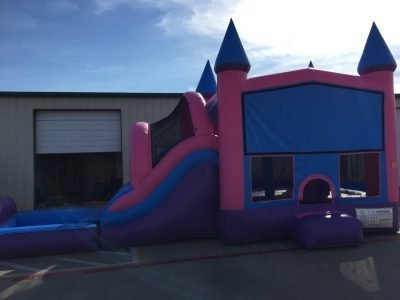 Princess Castle Combo Bounce House Wet