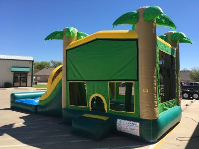 Tropical Jungle Combo Bounce House Wet